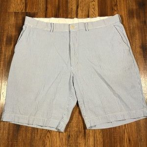 Polo blue and white striped seersucker shorts 40